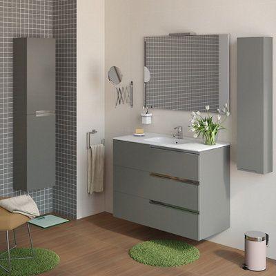 Mueble Baño Y Espejo Victoria N Family Blanco 80x46 Cm Leroy Merlin Muebles De Baño Muebles De Lavabo Espejos Para Baños