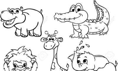 Animales Salvajes Para Colorear Children Coloring En 2020 Con