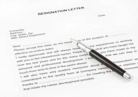 Resignation letter (Surat Pengunduran Diri)  Pengertian, Struktur - resign letter