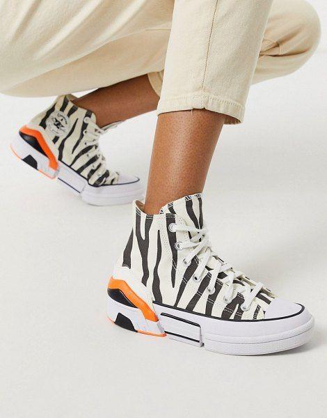Converse Cpx70 Zebra Print Sneakers In