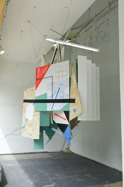 Collaborative Works : The Hanging one 70 ft. x 15ft. x 15 ft. : Mixed Media Collaboration with Clemens Behr and Raby Fofana Schau Fenster Gallery : Berlin DE