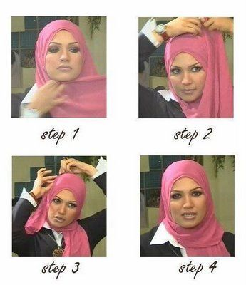 Easy basic hijab / shayla wrap works for almost any type of scarf.