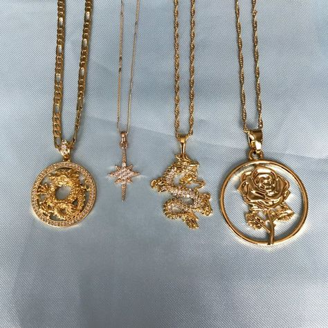 Golden Dragon Lariat Necklace 32 Inch Long
