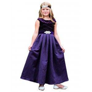 1f7c82f45 Little Girls Dark Purple Satin Sash Satin Amelia Christmas Dress 2-6 ...