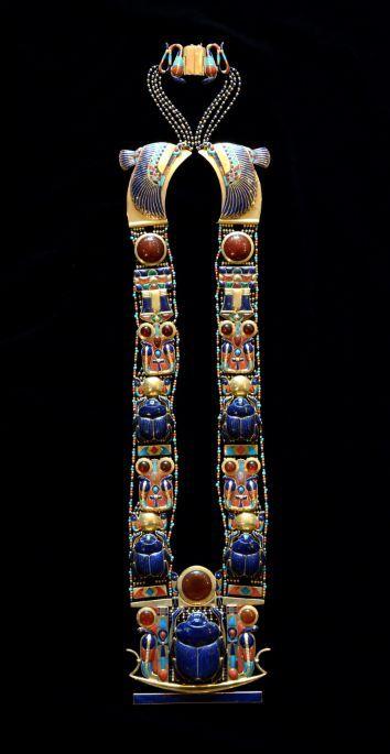 Escarabajo Colgante Calado egipcio cartela