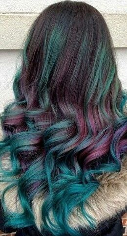 Pin By Sammie Russell 2 On Burgundy And Teal Beauty Hair Color Hair Color Color Combos