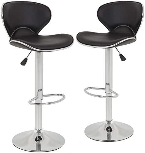 Best Seller Bar Stools Counter Height Adjustable Bar Chairs With Back Barstools Set 2 Pu Leather Swivel Bar Stool Kitchen Counter Stools Dining Chairs Online In 2020 Leather Swivel Bar Stools