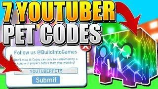7 RAINBOW YOUTUBER PET CODES IN PET SIMULATOR! (Roblox