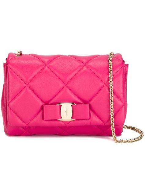 e53d08cc41 SALVATORE FERRAGAMO  Vara  Quilted Bag.  salvatoreferragamo  bags  shoulder  bags  leather