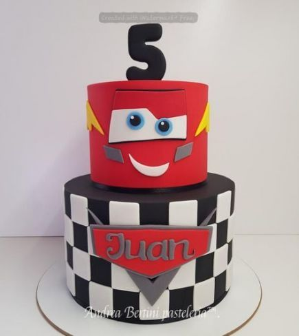 Fabulous 33 Trendy Cars Cake Buttercream Lightning Mcqueen 2Nd Birthday Personalised Birthday Cards Veneteletsinfo