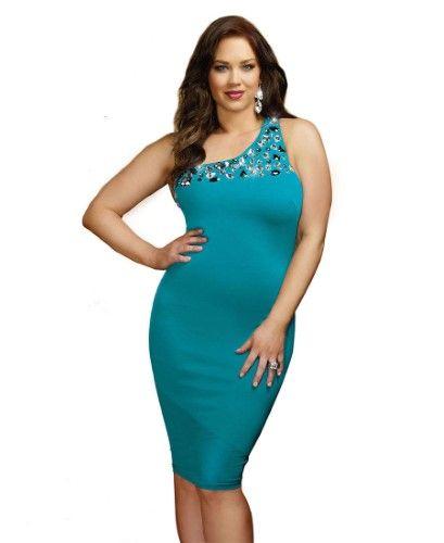 b2c6e75ee78b A Luxe Affair Single Shoulder Bodycon - Night Club Dresses, Women's, Size:  Women