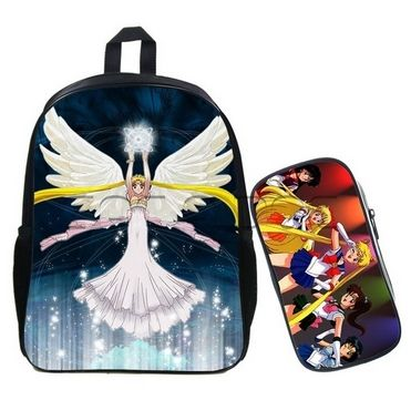 Plecak Szkolny Anime Sailor Moon Manga Piornik 7535012068 Oficjalne Archiwum Allegro Bags Backpacks Holder