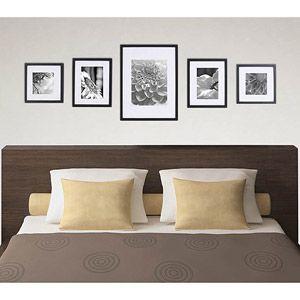 Online $49.96 Pinnacle Gallery Perfect 7-Piece Frame Kit. Walnut ...
