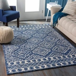 Overstock Com Online Shopping Bedding Furniture Electronics Jewelry Clothing More In 2020 Wool Area Rugs Navy And White Rug Area Rugs