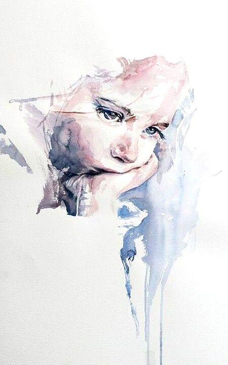Pin Di Jeanne Bolley Su Backgrounds Acquerello Viso