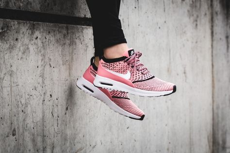 3c88c551f97e WOMENS AIR MAX THEA ULTRA FLYKNIT – Nike Air Max Thea Ultra Flyknit Bright  Melon Black White