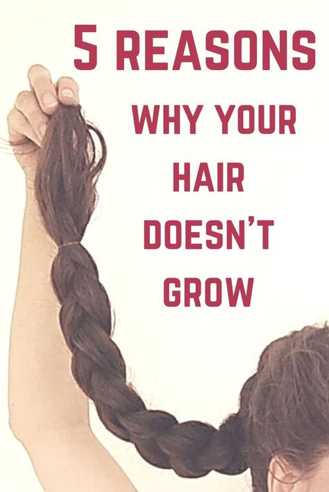 Your hair is not growing? There is definitely a reason for that! Check out this list of 5 reasons why your hair doesn't grow and learn how to get back to healthy hair growth! to get healthy hair 5 reasons why your hair is not growing Healthy Hair Tips, Healthy Hair Growth, Hair Growth Tips, Natural Hair Growth, Hair Care Tips, Healthy Long Hair, Hair Growth Remedies, Fast Hair Growth, Hair Thickening Remedies