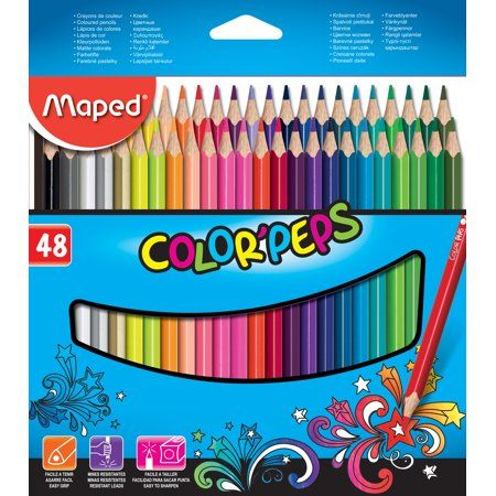 Maped Color Peps Colored Pencil Set 48 Pencils Colored Pencils