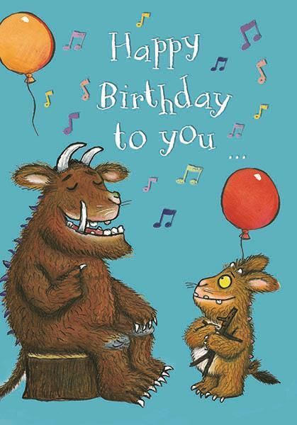 The Gruffalo Happy Birthday To You Music Notes Birthday Card Music Note Birthday Happy Birthday To You Happy Birthday