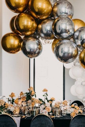 Bridal Shower Gold Birthday Decor Gold Orb Balloon Wedding Decor Gold Balloon Halloween Decor New Year/'s Eve Decor