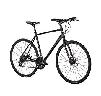 Populo Bikes Fusion 2 0 Hybrid 24 Speed Bicycle With Disc Brakes Black 47cm X Small Review Speed Bicycle Bicycle Bike