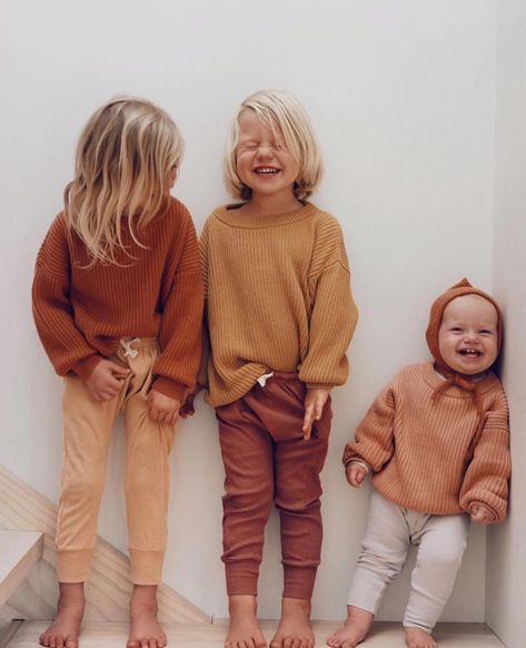 Obsessed with the @thesimplefolk_ kiddos in our boxy knit sweaters #littleurbanapparel