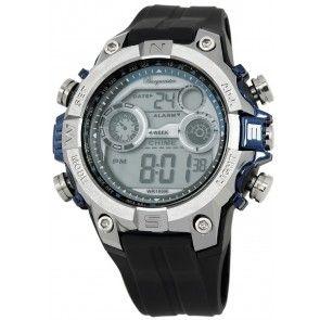 هدايا رجالية بورجميستر ديجيتال بور الرقمية للرجال مينا فضية سوار أسود Chronograph Watch Watches For Men Watches