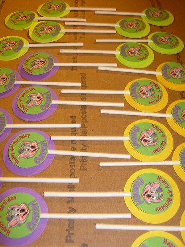 Chuck E Cheese Chocolate Lollipops Chuck E Cheese Pinterest