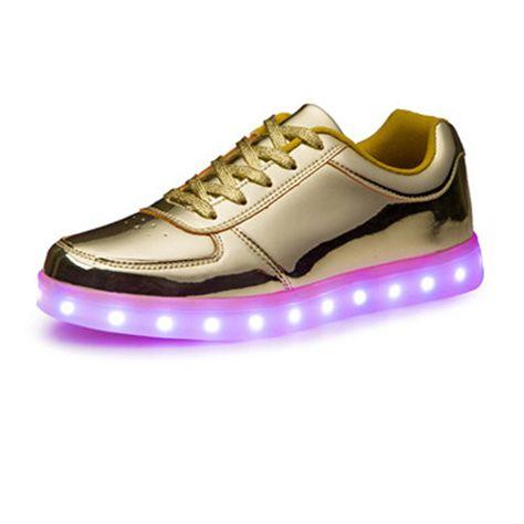 Leuchtende Golden Schuhe DamenLeuchtende Schuhe Halb SVpUzM