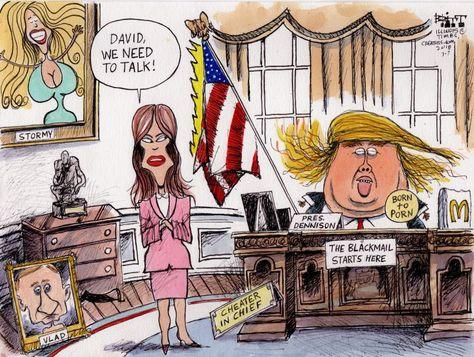 bэnnydiэgø ✯ @bennydiego Mar 11 Dear Melania, If I were you, I would take that cheating, lying, adulterer husband o…   Trump cartoons, Editorial cartoon, Cartoon