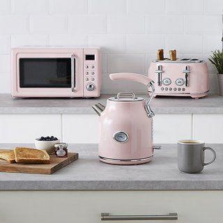Retro 20l 800w Pink Digital Microwave