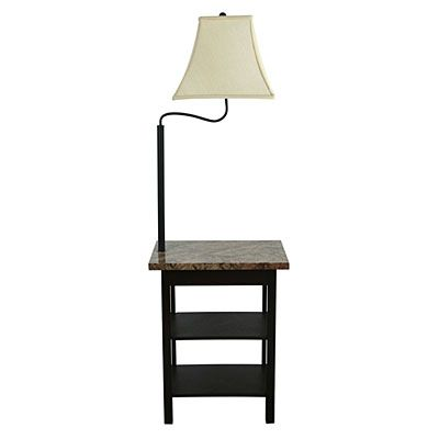 Faux Marble Top Chairside Lamp Table at Big Lots./$59=poss black ...