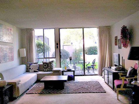 Living Rooms With Rugs On Carpets Neutral Carpet Apartments And Apartment Therapy