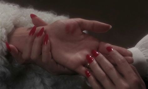 hands, red, and nails image