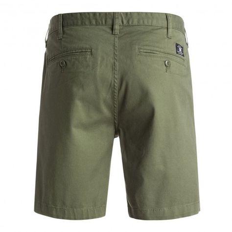 DC Shoes Worker Slim shorts chino vert kaki | Short, Printemps été 2016 et  Chino