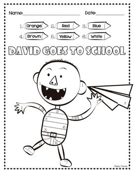David Goes To School Color By Number Teaching Elementary Math