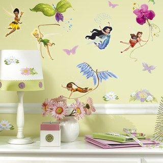 Disney Fairies Peel Stick Wall Stickers Kohls In 2020 Disney Wall Decals Disney Wall Stickers Fairy Room