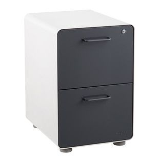 Poppin Dark Grey 2 Drawer Stow Locking Filing Cabinet Filing Cabinet Hanging File Folders Office File Cabinets