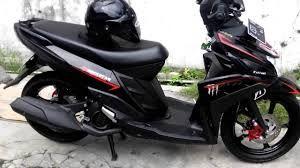 Modifikasi Motor Mio M3 Simple Motor Motor Yamaha Hitam