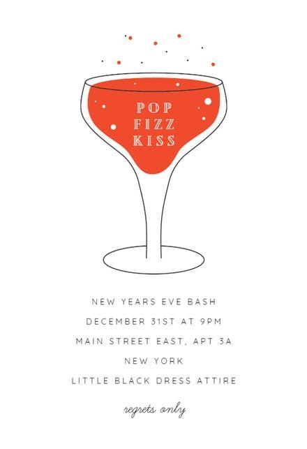 Free Printable New Year S Eve Invitation Templates Greetings Island Newyear Newyeareve N New Years Eve Invitations Invitation Template Party Invite Design