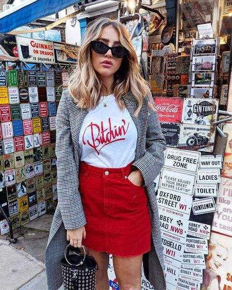 Trendy how to wear red jeans casual denim jackets Ideas