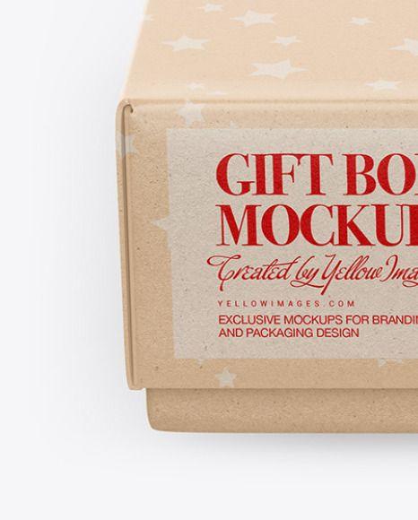 Download Kraft Gift Box Mockup In Box Mockups On Yellow Images Object Mockups In 2021 Box Mockup Kraft Gift Boxes Gift Box