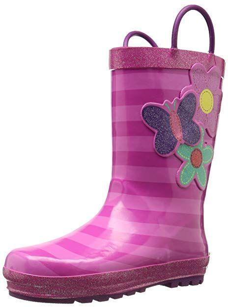 New Western Chief Kids Toddler Girls Waterproof Rain Boots Purple
