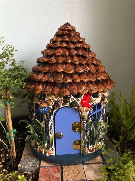 Indoor or Outdoor use fairy doo Fiddlehead Cottage Fairy Door for Fairy Gardens