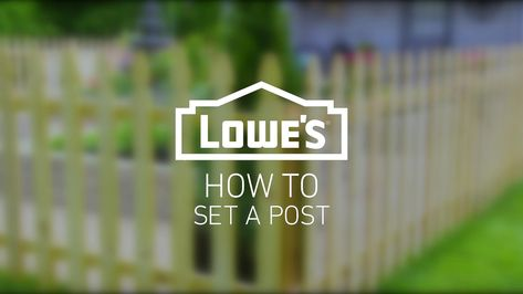 Setting a post is the foundational step for many projects, including building a fence or a deck. Learn how to dig post holes and set 4x4 posts with gravel, concrete or foam.