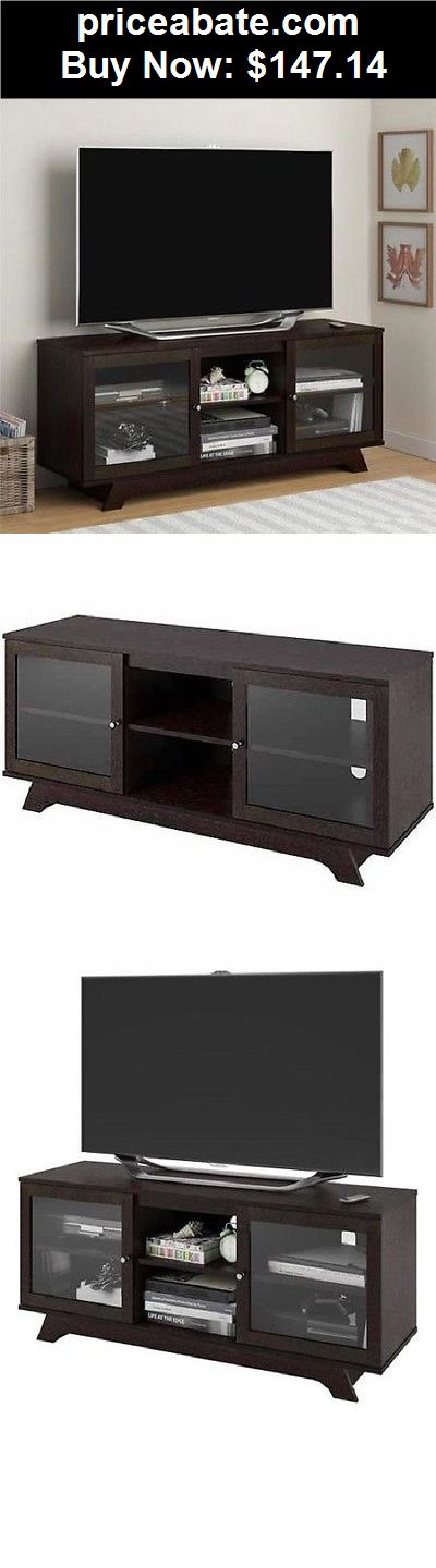 Furniture: 55 Inch TV Stand Entertainment Center Wooden Media ...