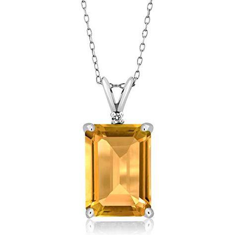Gem Stone King 0.81 Ct Sky Blue Aquamarine White Topaz 18K Yellow Gold Plated Silver Pendant