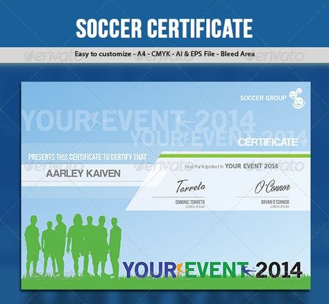 soccer   football certificate Certified Certificates Pinterest - soccer certificate template