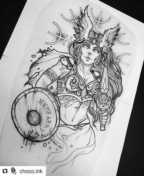 Tattoo Artist IG @choco.ink 🇪🇸 @choco.ink. Tattoo studio @darumeando_tattoo 🇪🇸 #Repost @choco.ink (@get_repost) ・・・ ✖️ V A L K I R I A ✖️ •…