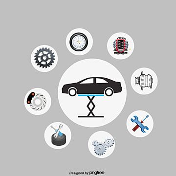 Vector Car Repair Car Vector Hd Vector Png Transparent Clipart Image And Psd File For Free Download Auto Repair Car Vector Business Card Template Design